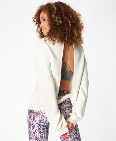 Recline Sweatshirt, Lily White | Sweaty Betty