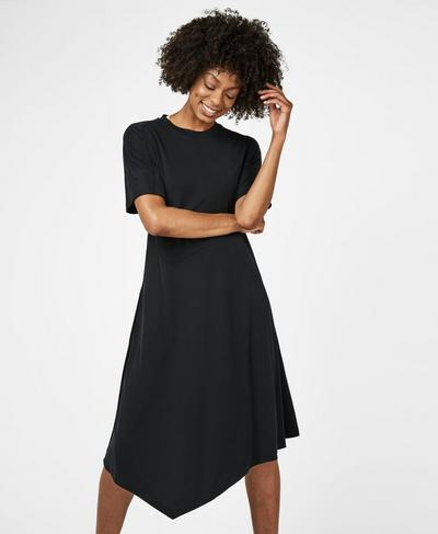 Rhea Midi Dress, Black | Sweaty Betty