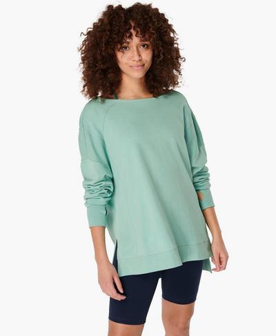 After Class Sport-Sweatshirt, Algarve Green | Sweaty Betty