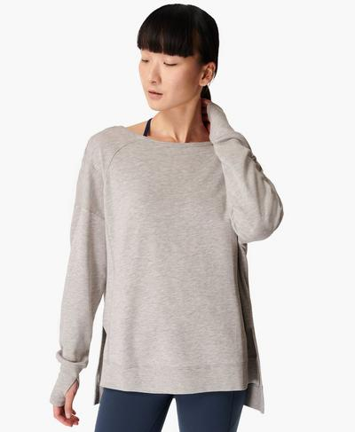 After Class Sport Sweatshirt, Light Grey Marl | Sweaty Betty