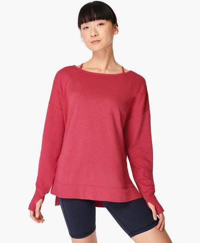 After Class Sport-Pullover, Tayberry Pink | Sweaty Betty