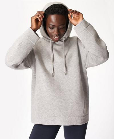 Time Out Hoody, Cloud Grey Marl | Sweaty Betty