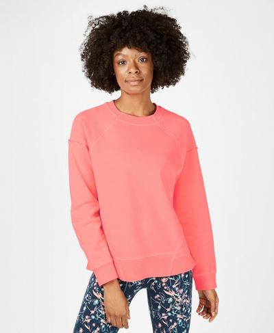 Surf Sweatshirt, Fluro Flash Pink | Sweaty Betty