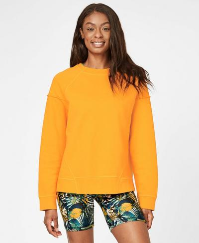Oversized Surf Sweatshirt, Zinnia Yellow | Sweaty Betty