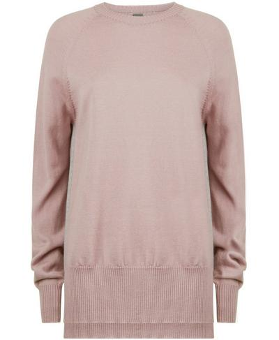 Hoxton Merino Crew Neck Jumper, Velvet Rose | Sweaty Betty