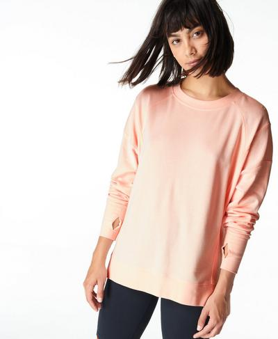 After Class Sweatshirt, Antique Pink | Sweaty Betty