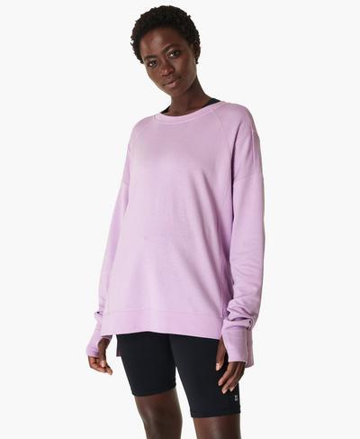 After Class Sweatshirt, Aster Purple | Sweaty Betty