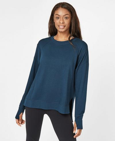 After Class Sweatshirt, Beetle Blue | Sweaty Betty