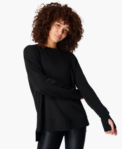 Simhasana Sweatshirt, Black | Sweaty Betty