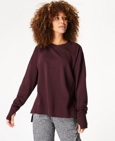 After Class Sweatshirt, Black Cherry Purple | Sweaty Betty