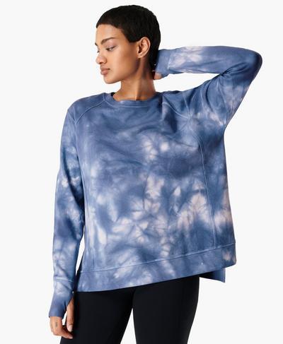 After Class Sweatshirt, Blue Tie Dye | Sweaty Betty