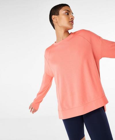After Class Sweatshirt, Blush Pink | Sweaty Betty