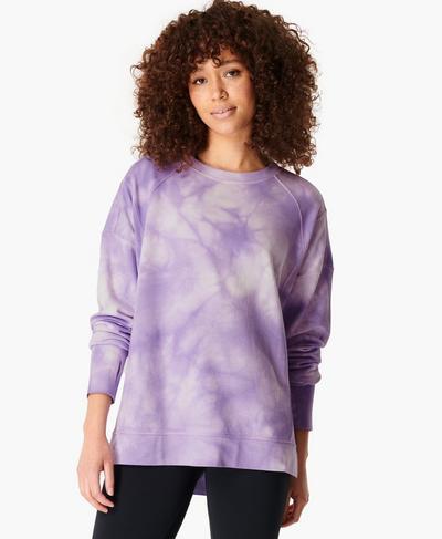 After Class Sweatshirt, Lilac Tie Dye | Sweaty Betty