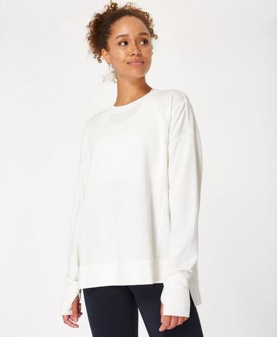 After Class Jumper, Lily White | Sweaty Betty