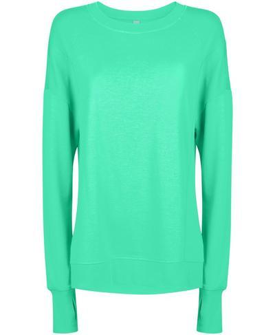 After Class Sweatshirt, Lime Gello Green | Sweaty Betty