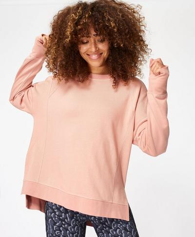 Simhasana Sweatshirt, Misty Rose Pink | Sweaty Betty