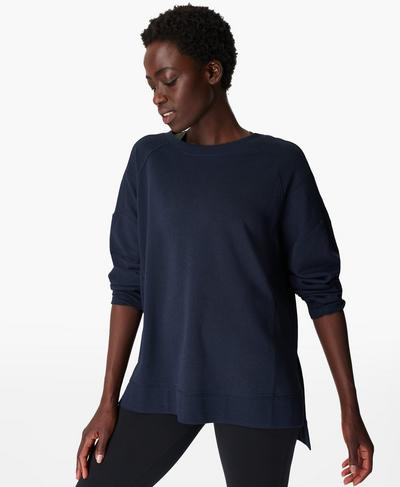 After Class Jumper, Navy Blue | Sweaty Betty