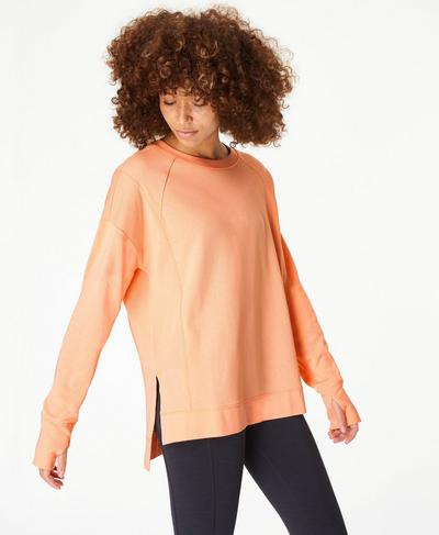 After Class Jumper, Peach Orange | Sweaty Betty