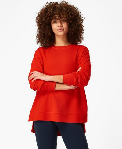 After Class Jumper, Rich Red | Sweaty Betty