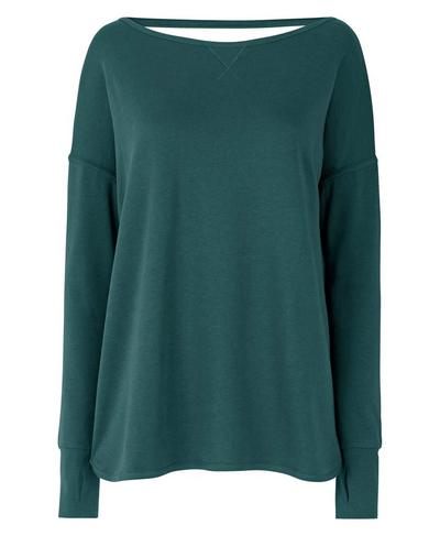 Simhasana Sport Sweatshirt, June Bug Green | Sweaty Betty