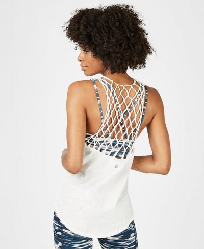 Macrame Vest, Lily White | Sweaty Betty