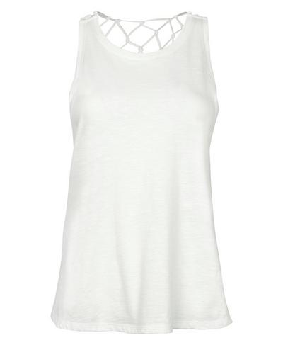 Macrame Tank, Lily White | Sweaty Betty