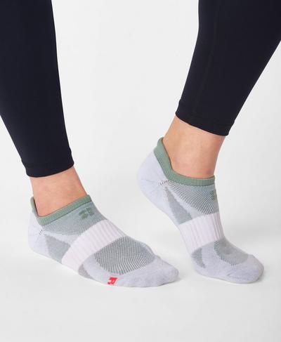 Technical Run Socks, Marina Green | Sweaty Betty