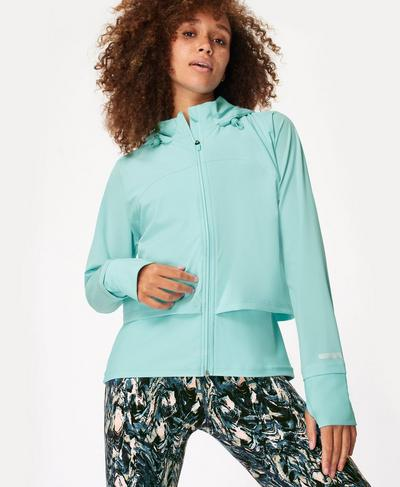 Fast Track Running Jacket, Blue Lagoon | Sweaty Betty
