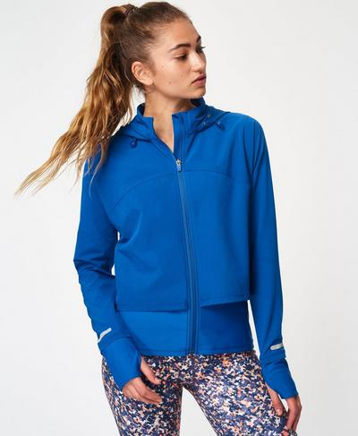 Fast Track Running Jacket, Blue Quartz | Sweaty Betty