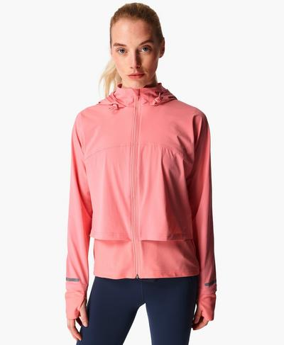 Fast Track Running Jacket, Calypso Pink | Sweaty Betty