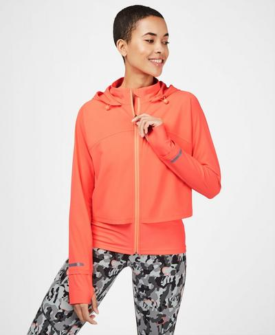 Fast Track Running Jacket, Fluro Pink | Sweaty Betty