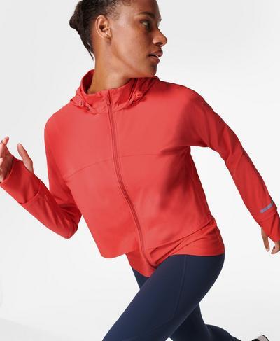 Fast Track Running Jacket, Pentas Red | Sweaty Betty