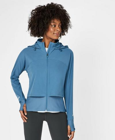 Fast Track Running Jacket, Stellar Blue | Sweaty Betty