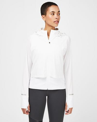 Fast Track Running Jacket, White | Sweaty Betty