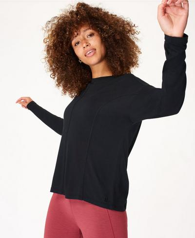 Exalt Long Sleeve Yoga Top, Black | Sweaty Betty