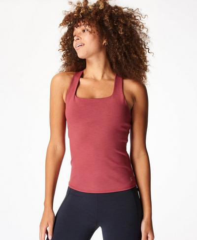 Super Sculpt Yoga Tank, Renaissance Red Marl | Sweaty Betty