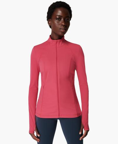Power Workout Zip Through Jacket, Tayberry Pink | Sweaty Betty