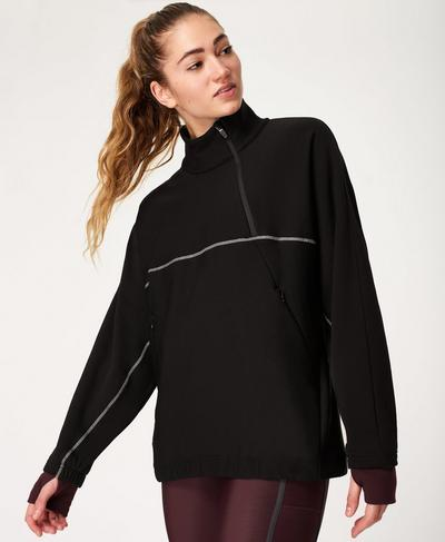 Insulate Thermal Run Pullover, Black | Sweaty Betty