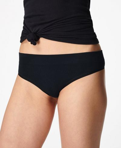 Mindful Seamless G-String, Black | Sweaty Betty