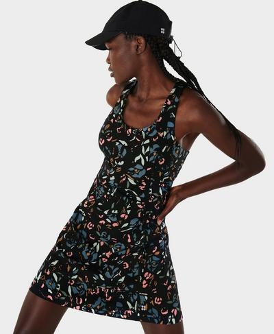 Power Workout Dress, Blue Floral Pop Print | Sweaty Betty
