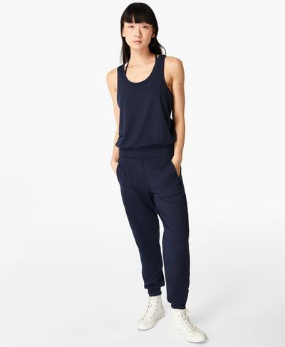 Gary Jumpsuit, Navy Blue | Sweaty Betty