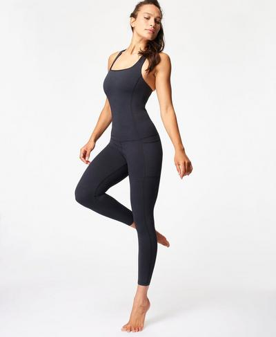 Super Sculpt Unitard, Black | Sweaty Betty