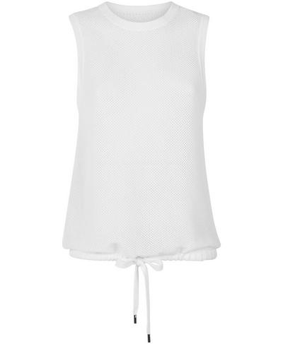 Wimbledon Mesh Knitted Vest, White | Sweaty Betty