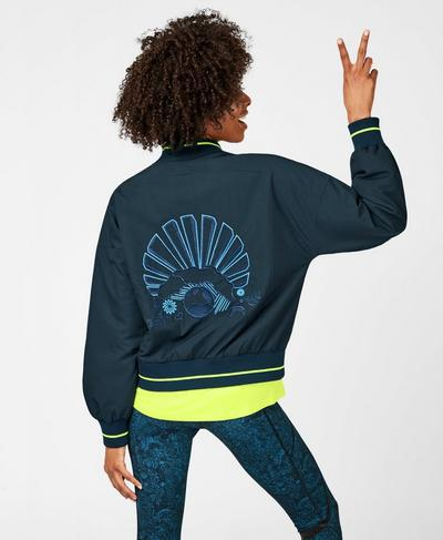 Game Changer Jacket, Beetle Blue Colour Block | Sweaty Betty