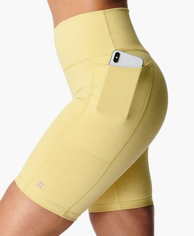 "Super Sculpt 8"" Cycling Shorts, Riviera Yellow 