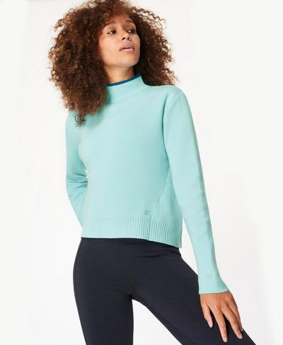 Serenity Jumper, Blue Lagoon | Sweaty Betty