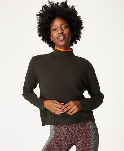 Serenity Sweater, Dark Forest Green | Sweaty Betty