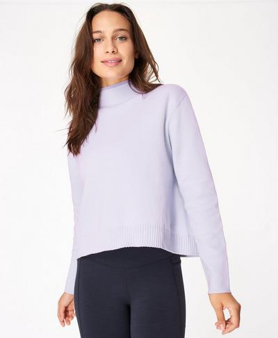 Serenity Jumper, Heather Purple | Sweaty Betty