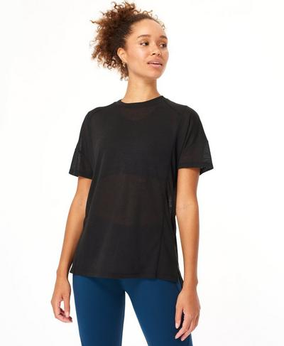 Flex Workout Tee, Black | Sweaty Betty