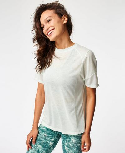 Flex Gym T-Shirt, Pale Aqua Green | Sweaty Betty